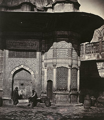 Figures at the Fountain of Sultan Ahmet III, Istanbul 1850s