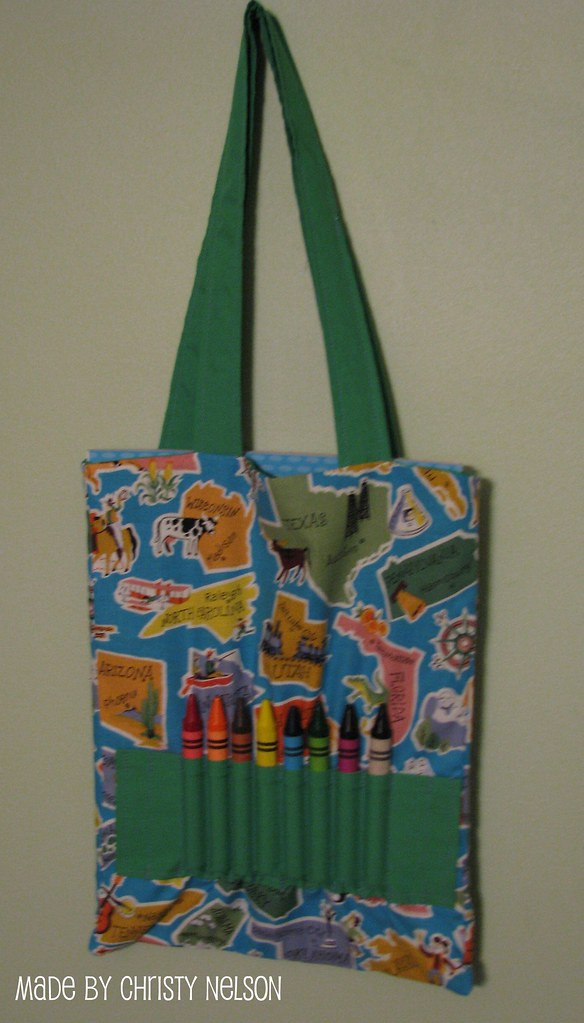 Coloring Book And Crayon Tote Bag Tutorial Tutorial