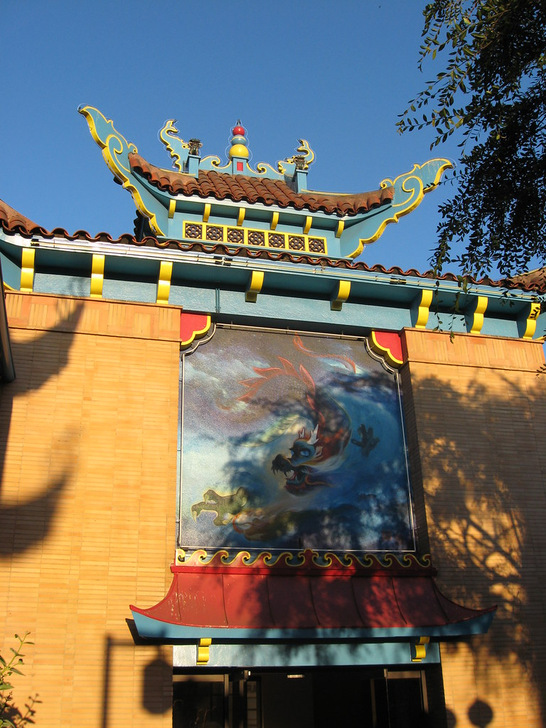Chinese celestial dragon mural by fu ding cheng for Chinese dragon mural