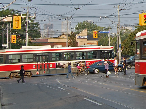 Toronto Bike Streetcar Parliament at Gerrard | by draughtsmon
