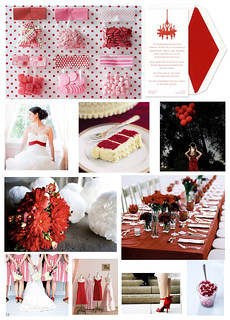 Wedding Wednesday: Red and White with Touches of Pink | by finestationery