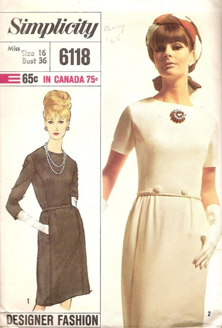 Vintage sewing pattern: designer 1960s dress | Blogged here ...