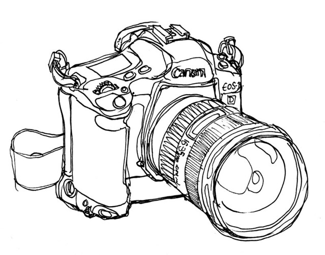 Line Drawing Camera : Eos d mkii line drawing of my camera joe flickr