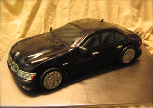 Bmw 750i Car Cake Again Tough To Photograph Black