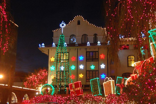 the mission inn hotel festival of lights by randomguru