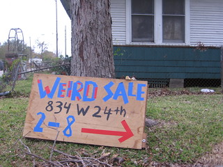 Museum of The Weird Yard Sale Street Sign | by Mr. Kimberly