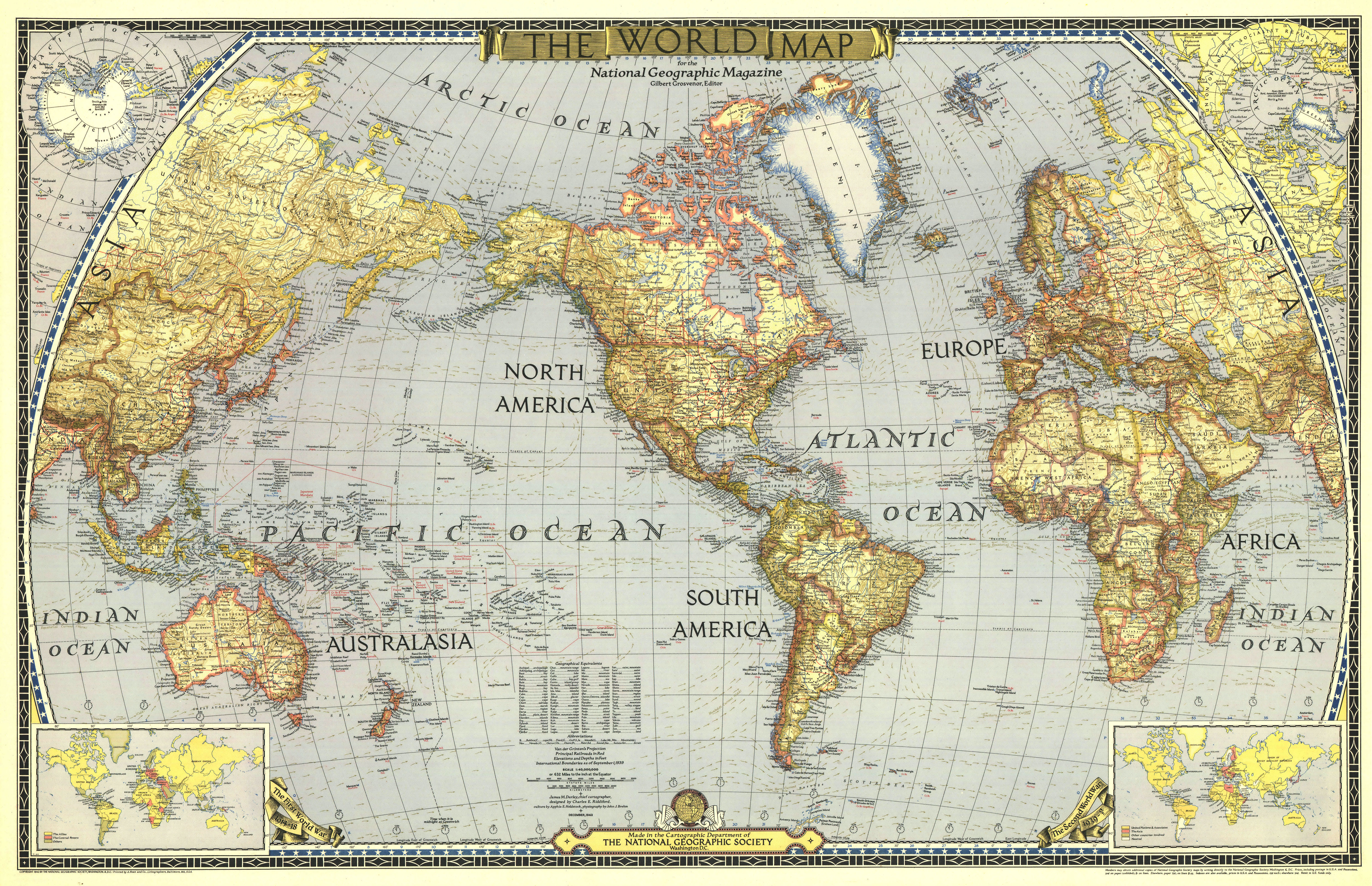 National geographic world map 1943 4961x3202 mapporn national geographic world map 1943 4961x3202 publicscrutiny Image collections