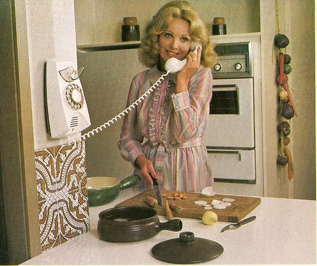 Retro Woman In Kitchen: The Housewife Is Now A Bit Of A