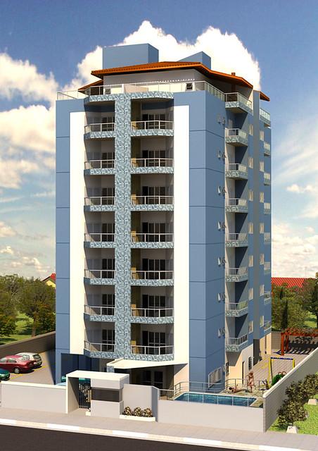 Fachada fachada de pr dio de acordo com projeto e for Fachadas de pisos modernos