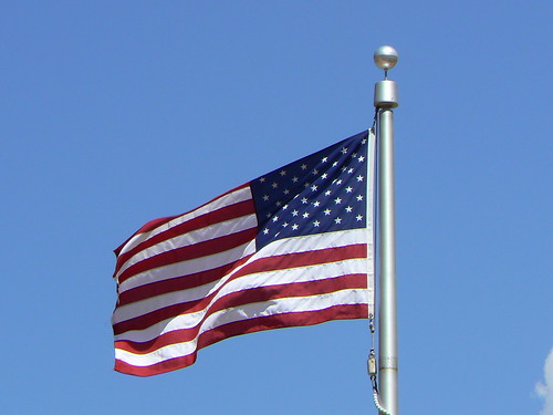 American flag old glory on flagpole flying | by Tim Pearce, Los Gatos