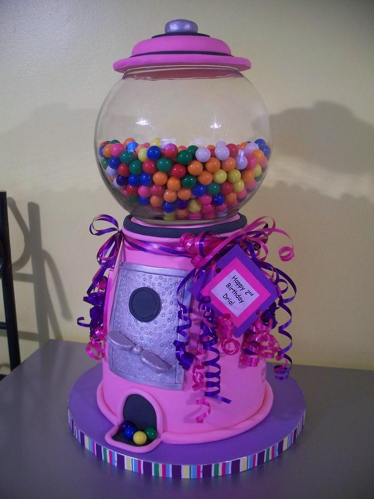 Pink Gumball Machine Cake Jennifer Flickr