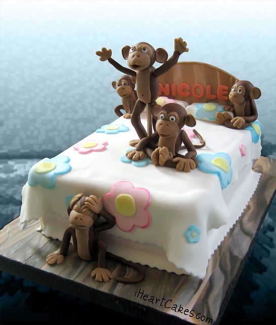 Five Monkeys Jumping On The Bed Cake
