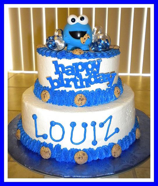 Cookie Monster Birthday Cake tinkabellz17 Flickr