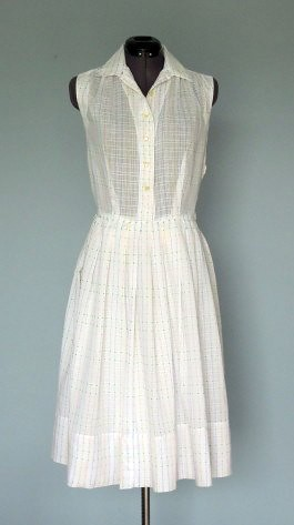 WHITE COTTON DRESS - Gunda Daras