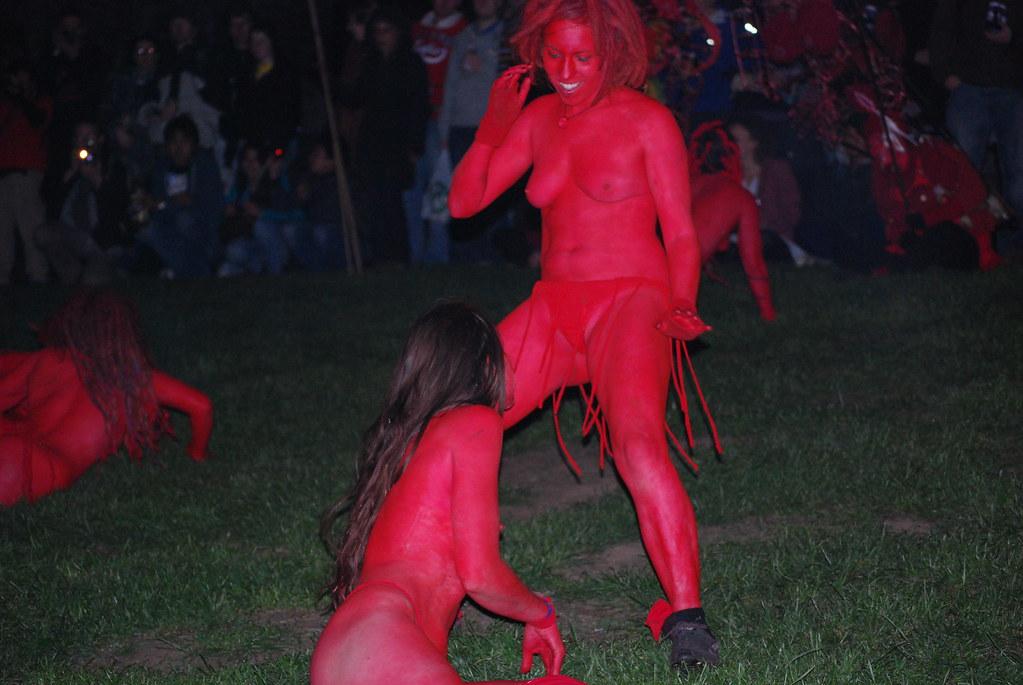 Beltane Fire Festival 2010 - Edinburgh - Naked Red Woman ...