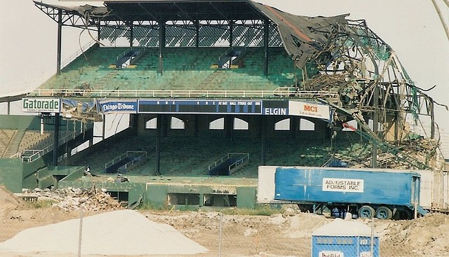 Comiskey Park Demolition 1991 View Over The Fence From