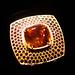 Garnet ring with cognac diamonds