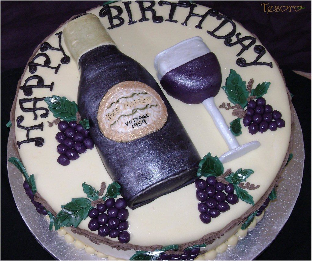 Cake Decorating Wine Bottles : wine bottle cake Vanilla cake with amaretto buttercream ...