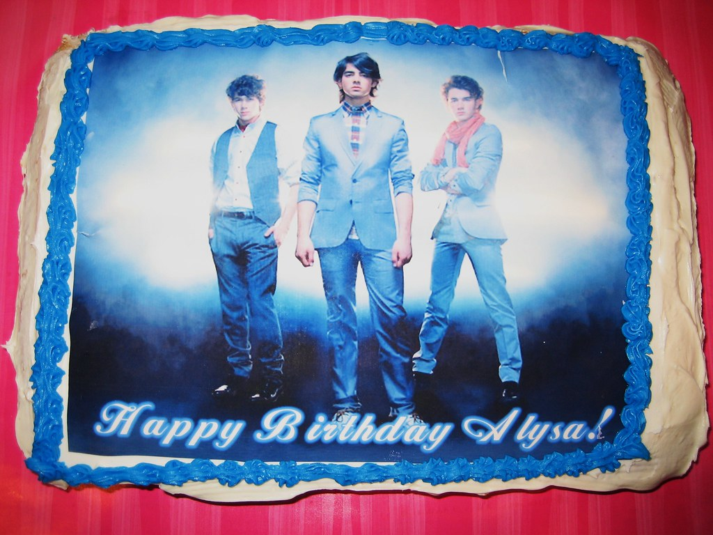 Jonas Brothers Birthday Cake I Am Still New At Creating