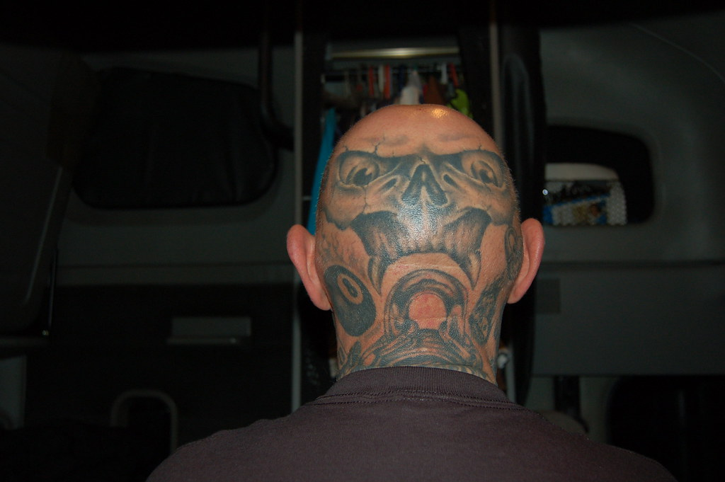 Back of head tattoo this shows the entire back of my for Tattoo bald spot