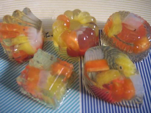 puding buah puding jelly dengan tambahan buah segar