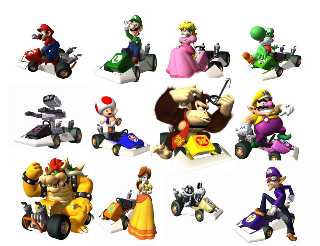 Mario kart ds characters all the characters in mario - Personnage mario kart 7 ...