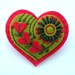 EMBROIDERED HEART FELT BROOCH - VALENTINE'S DAY