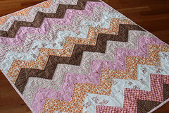 a neapolitan zig zag baby quilt | by filminthefridge