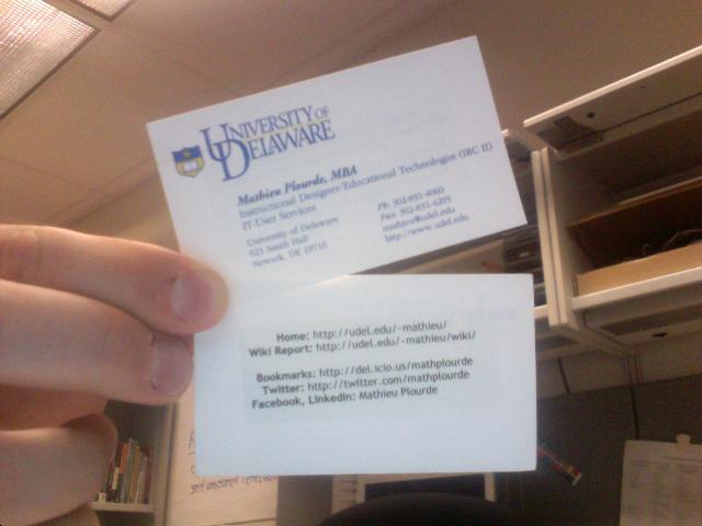 My little business card trick i always put a sticker at for Business card tricks
