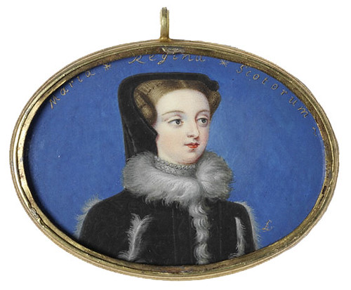a miniature of mary  queen of scots