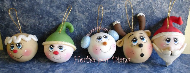 Esferas navide as diana becerril flickr for Hacer figuras navidenas manualidades