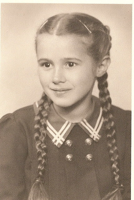 1940S Girl With Pigtails  From Germany, C 1940 I Will -9439