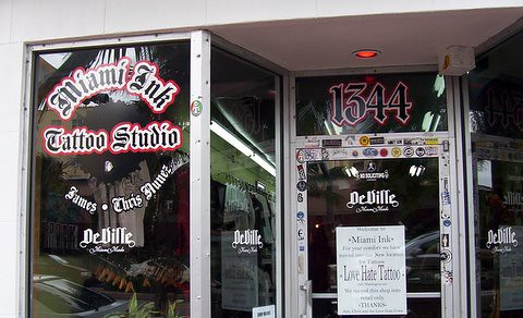 Miami ink the original south beach location of miami ink for Tattoo shops in miami beach