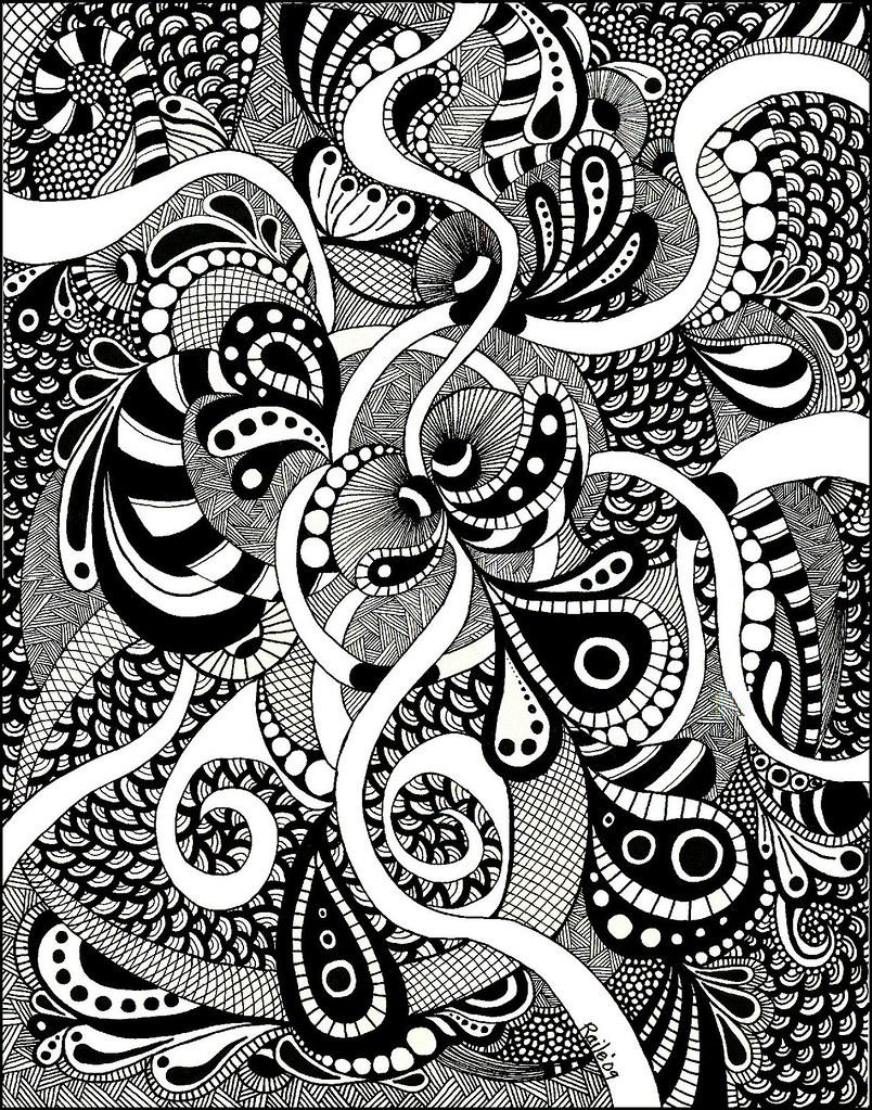 Line Art Design Inspiration : Big zentangle this is an quot on bristol
