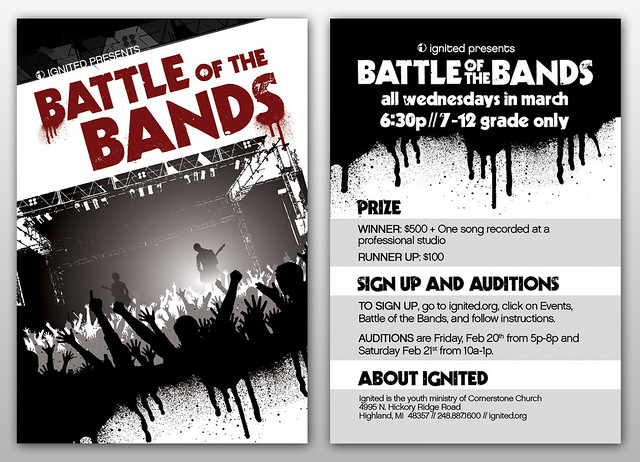 About >> Battle of the Bands | A student ministry flyer for a ...