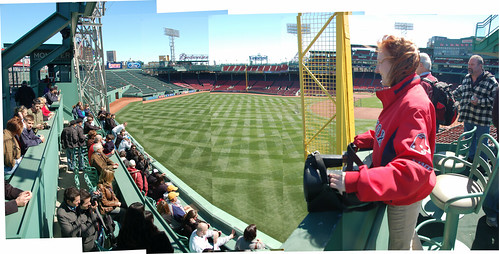 Fenway Park Panorama Guide Over Green Monster Seats From