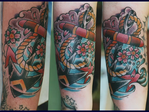 Traditional anchor jae connor for Electric lotus tattoo