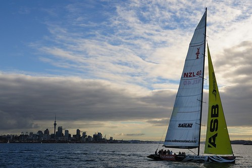Sail NZ Americas Cup boat and Auckland Skyline | by NUkiwi