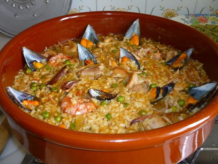 Paella de pescado 3 comer para vivir y porque no - Paella de pescado ...