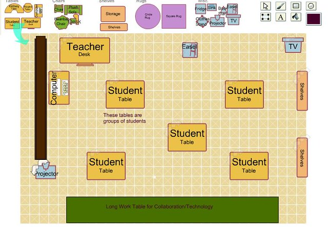 Classroom Layout Tool ~ Classroom layout i used a tool to draw my