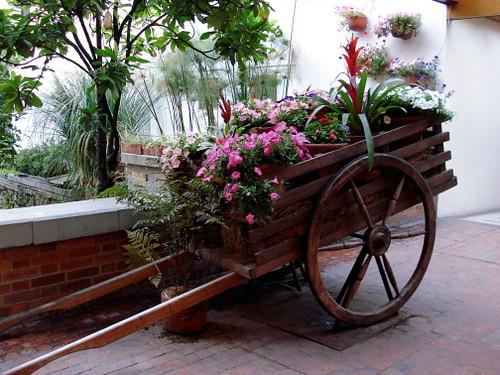 Carreta con flores claudia hernandez flickr - Casetas para el jardin ...