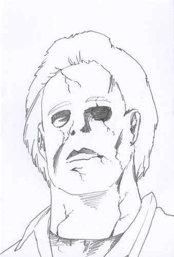 Michael myers 5 minute sketch by logan zawacki logan for Michael myers coloring pages