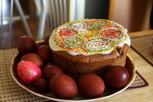 Kulich and easter eggs | by kovalchuk.nikolay