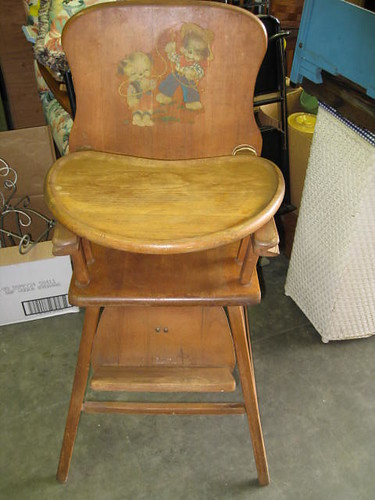 Antique Lehman Baby Guard Wood High Chair 50 Flickr