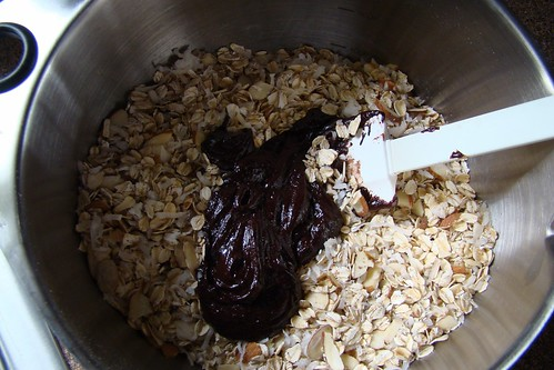 mixing granola | by pastryaffair