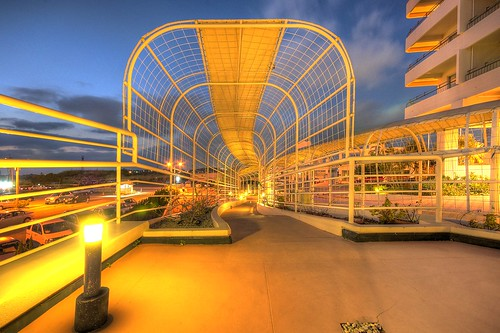 Hotel Walkway at Sunset | by alexbrn