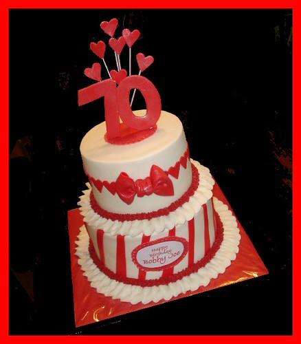 Valentines 70th Birthday Cake For Bobby Joe