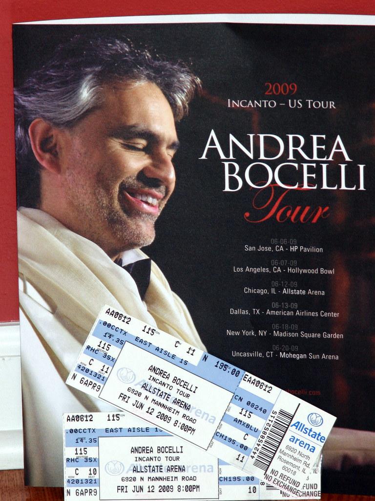 andrea bocelli concert 20090612 souvenir from andrea bocel flickr. Black Bedroom Furniture Sets. Home Design Ideas