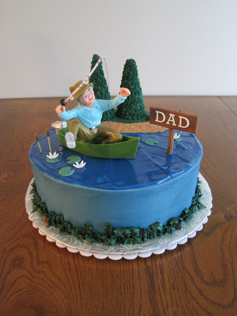 Fishing Cake A Cake That I Made For My Father In Law Who