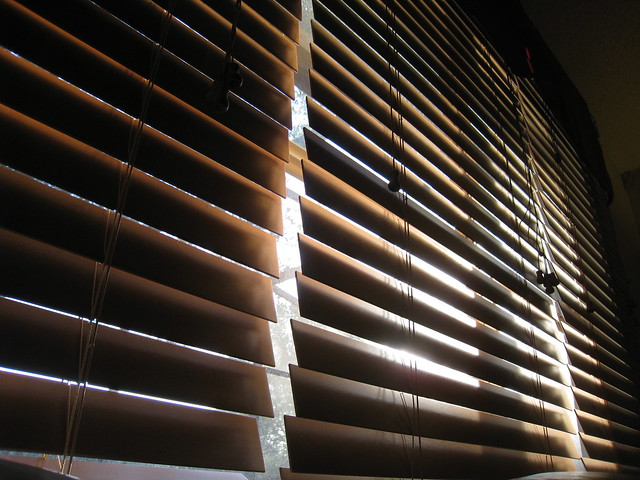 Clean Faux Wood Blinds